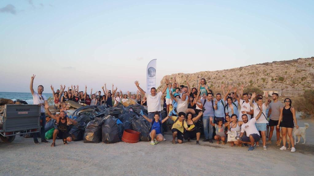 Beach Clean-up, Karteros beach, Heraklion 19 August 2019