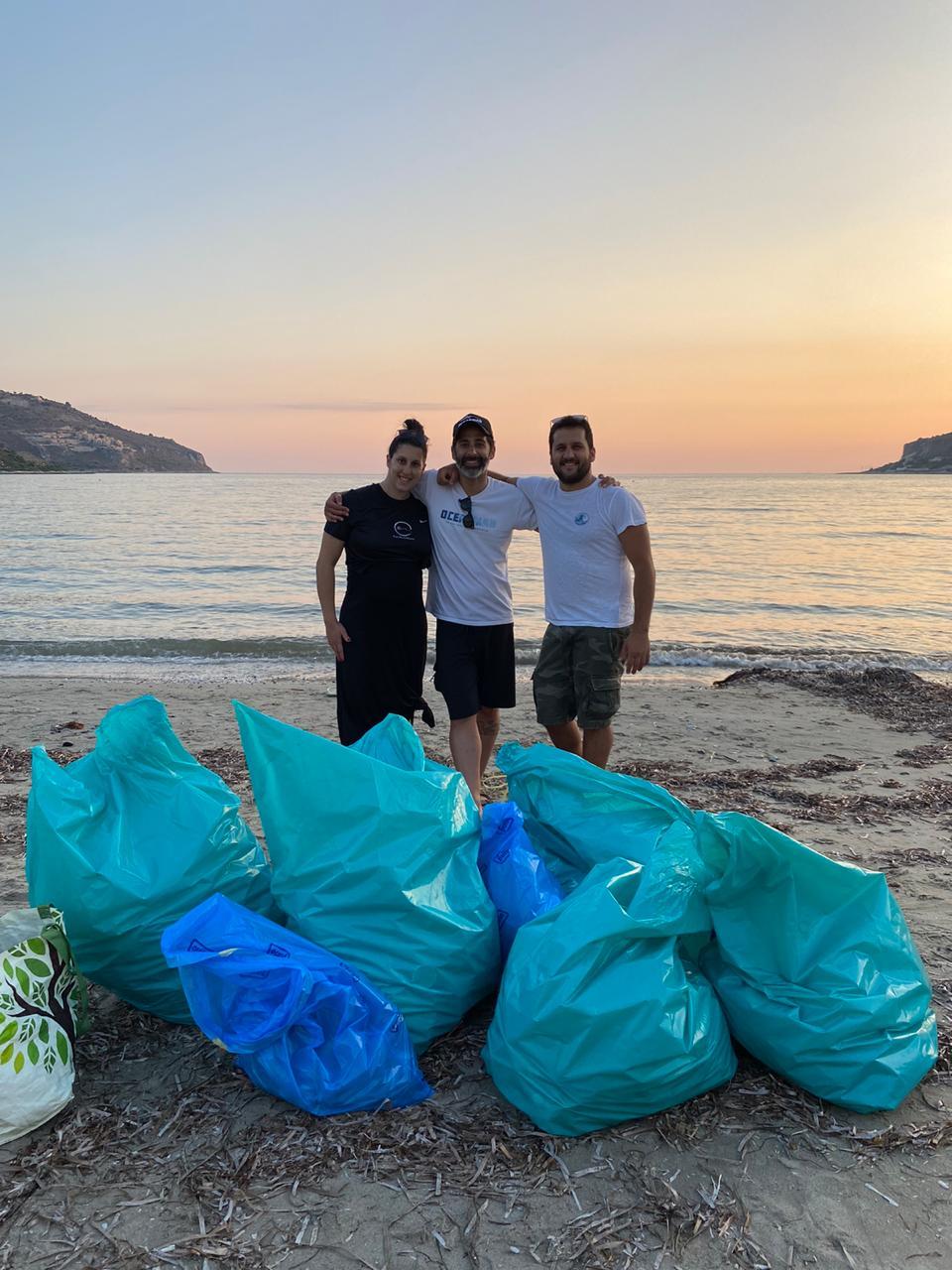 Beach clean-up, Oceanman Greece 2020, Oitylo 27 June 2020